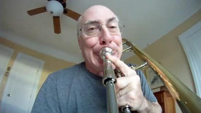 Musician Records Himself From His Trombone's Point of View