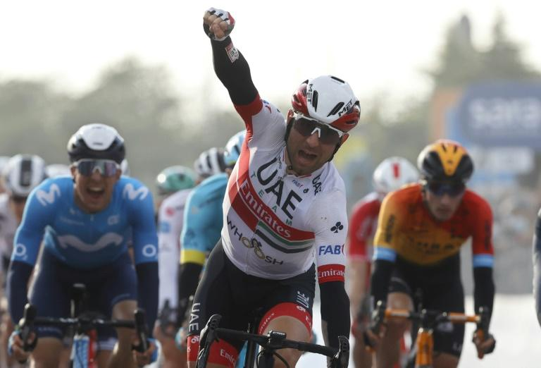 Ulissi takes knife-edge Giro 13th stage, leader Almeida wary of 'difficult' time trial