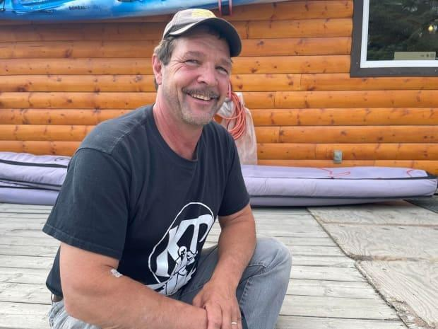 Scott McDougall, the co-owner of Kanoe People in Whitehorse, rescued a man who was swept down the Yukon River Thursday. (Julien Gignac/CBC - image credit)