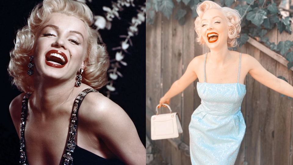 Marilyn Monroe (pictured left) is a style icon of Chiswell's (pictured right). (Photo: Getty/Jasmine Chiswell)
