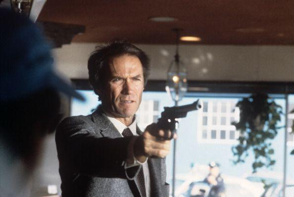 <p>After a brief hiatus, the <em>Dirty Harry </em>franchise continued with <em>Sudden Impact</em>. Eastwood directed and starred in the film, alongside his girlfriend, Locke.</p>