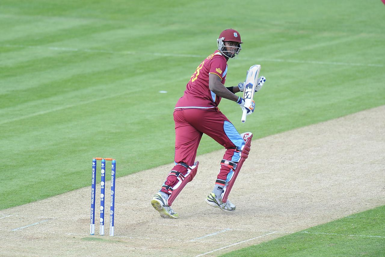 CARDIFF, WALES - JUNE 01:  Jason Holder of the West Indies bats during the West Indies v Australia - ICC Champions Trophy Warm Up match at the SWALEC Stadium on June 1, 2013 in Cardiff, Wales.  (Photo by Matthew Horwood/Getty Images)