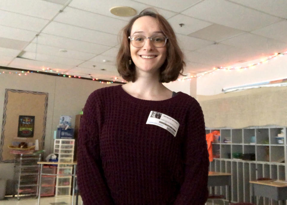 Image: Natalee Marini graduated from Cheshire Public Schools in 2017. Now she's back substitute teaching while she applies to graduate schools (Courtesy of Natalee Marini)