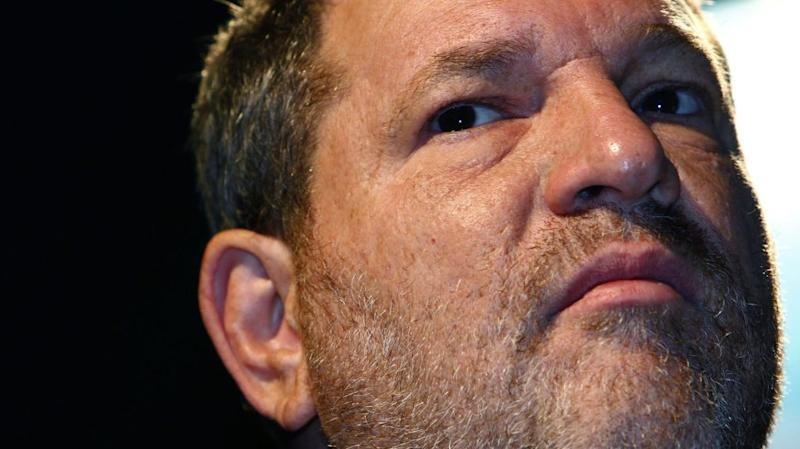 close-up of Harvey Weinstein