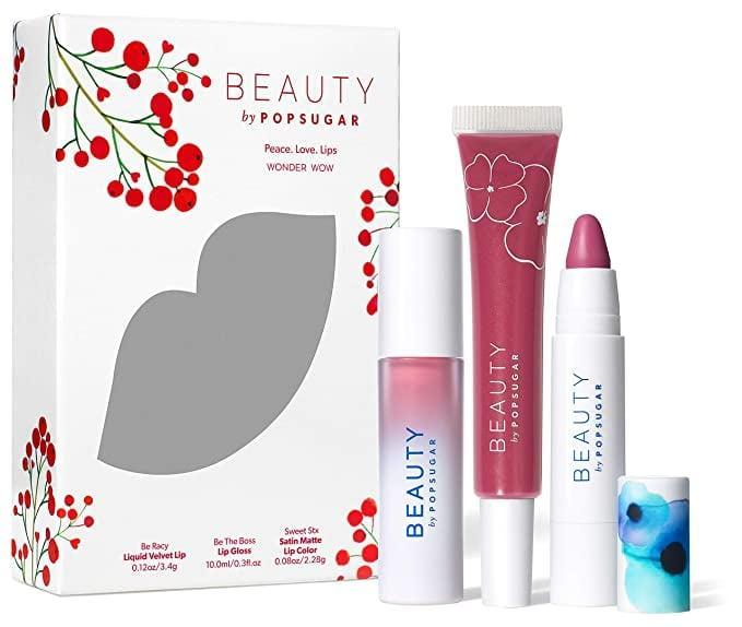 """<p>""""I know it <em>sounds</em> bias - what with me working at POPSUGAR and all - but I cannot tell you how underrated our Beauty by POPSUGAR lip products are. Each one, whether it's the gloss, tinted balm, or stain, smooths on like butter and feels comfortable no matter the season. If you can't choose just one, why not buy the <span>Beauty by POPSUGAR Peace Love Lips Kit</span> ($30)?"""" - KC</p>"""
