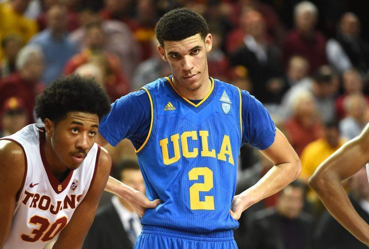 """Lonzo Ball's also talked about """"trading in"""" and """"getting away from"""" some of his UCLA teammates. (Getty)"""