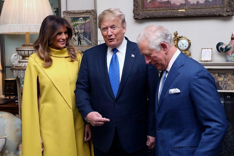 From left: First Lady Melania Trump and President Donald Trump with Prince Charles at Clarence House on Tuesday | Chris Jackson - WPA Pool/Getty