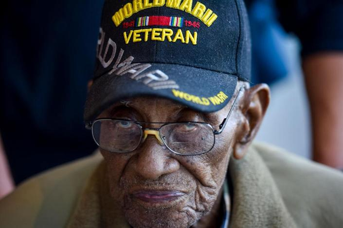 Richard Overton, 112 years old, is the third-oldest man on the planet, the oldest man in the United States, and the oldest military veteran. (Photo: Jahi Chikwendiu/Washington Post)