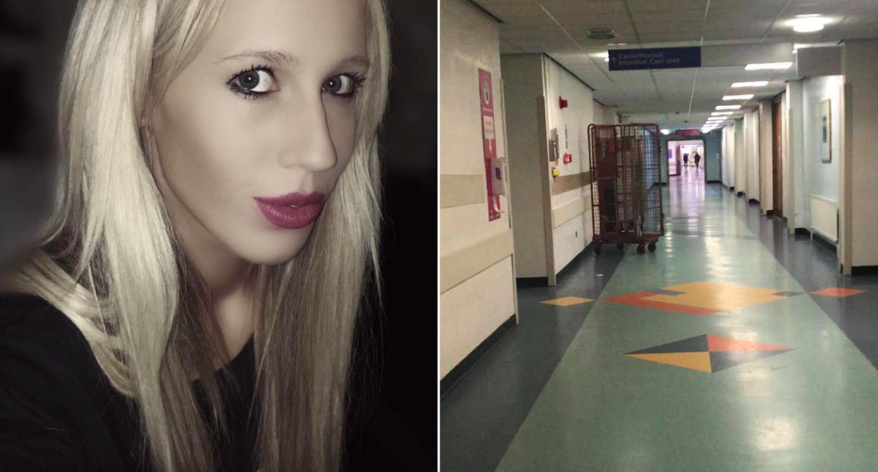 Hannah Dean has been fined for £200 for filming a hospital that she says was 'empty'. (Facebook)