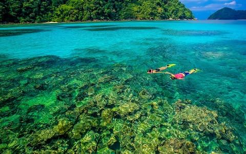 Snorkelling in Mu Ko Surin national park - Credit: Tourism Authority of Thailand