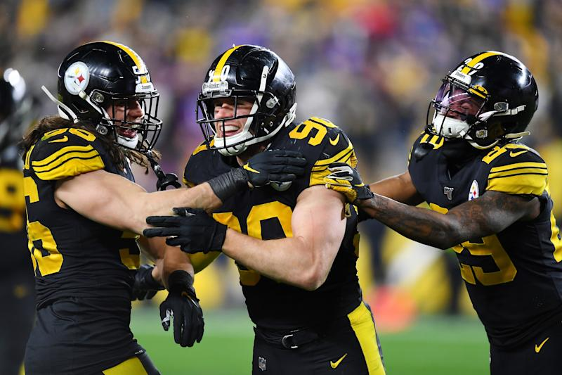T.J. Watt #90 of the Pittsburgh Steelers