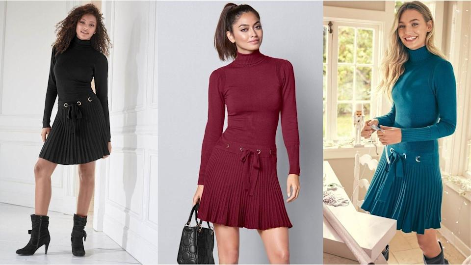 Pleats are the ultimate way to add a sporty vibe to your dressy outfit.