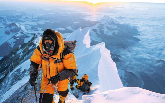 Mark Synnott on Everest's Northeast Ridge in 2019, during his mission to find out what really happened to George Mallory and Sandy Irvine who disappeared in 1924 - Matthew Irving