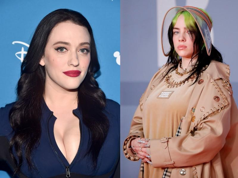 Kat Dennings shared why she came to Billie Eilish's defense recently. (Photos: Getty Images)