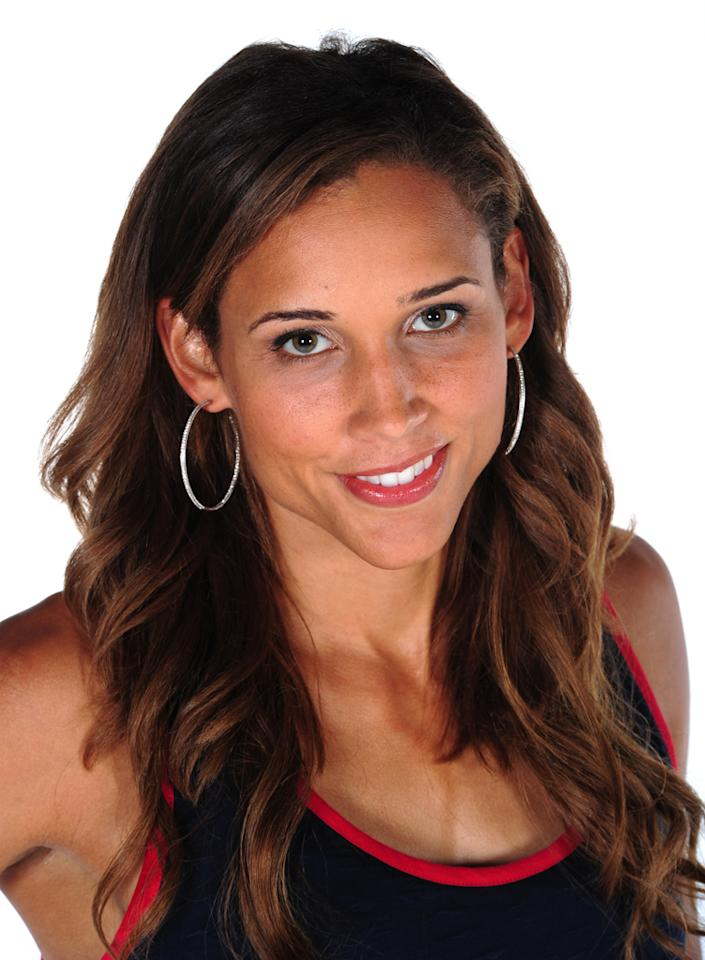 Track and field athlete Lolo Jones poses for a portrait during the USOC Portrait Shoot at Smashbox West Hollywood on November 17, 2011 in West Hollywood, California.