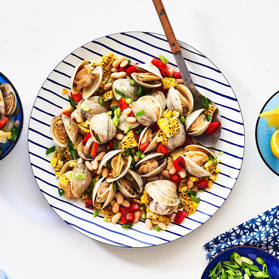 <p>Cooking bivalves like clams is pretty foolproof because they tell you when they're done—you'll know they're ready once they open. Discard any that stay closed.</p>