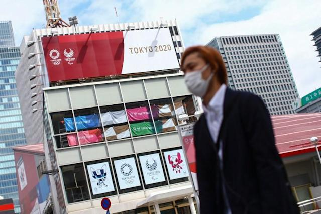 A banner for Tokyo 2020 Olympic Games is pictured in Tokyo