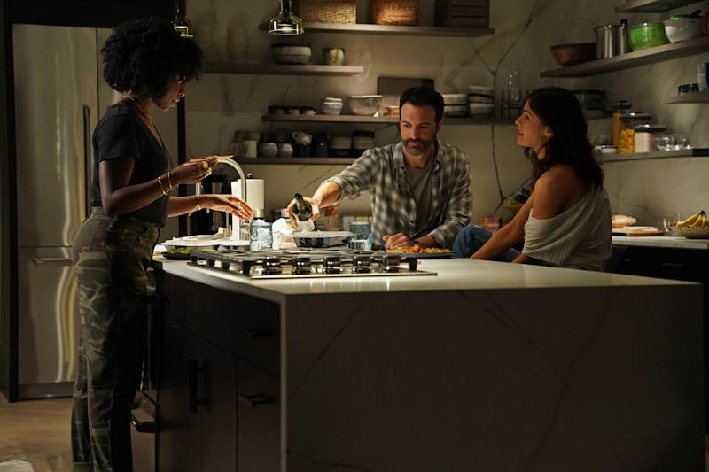 Kirby Howell-Baptiste, Reid Scott and Alexandra Daddario in 'Why Women Kill' (Photo: Ali Goldstein/CBS Interactive, Inc.)