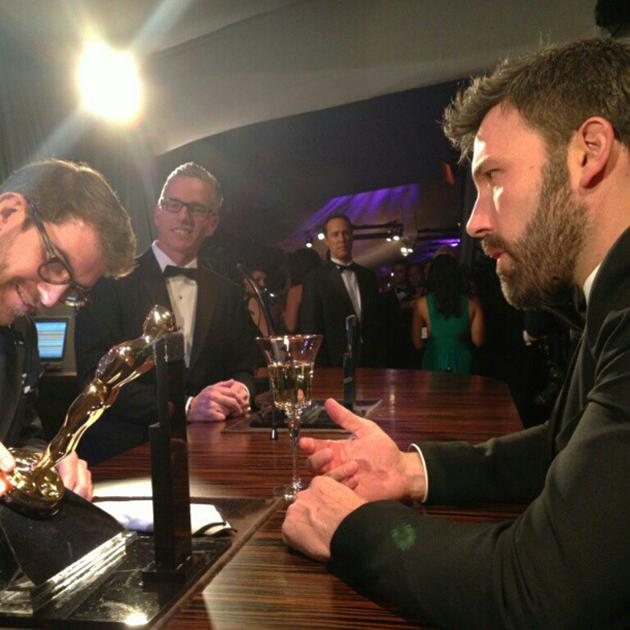 Thank you Academy, Tony, the cast and crew. What a ride #Argo has been for us all! #Oscars - @benaffleck