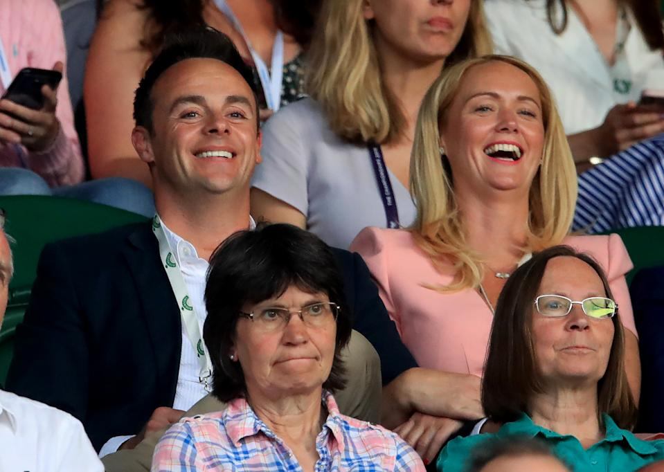 Ant McPartlin with Anne-Marie Corbett at Wimbledon (Photo by Adam Davy/PA Images via Getty Images)