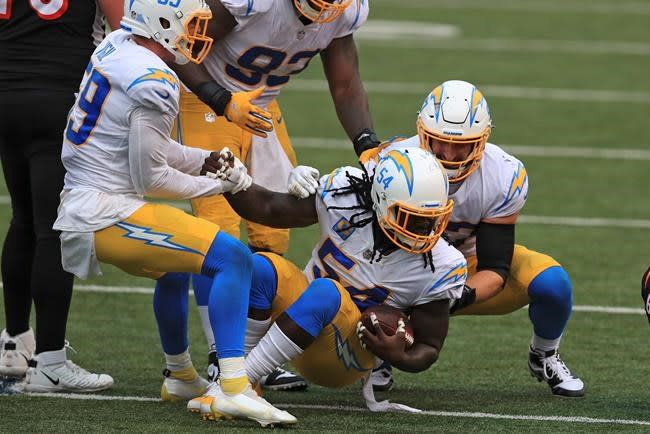 Chargers muster just enough offence to slip by Bengals