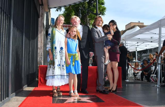 Nick Nolte is joined by his family at his Hollywood Walk of Fame ceremony in November 2017. (Photo: Frederic J. Brown/AFP/Getty Images)