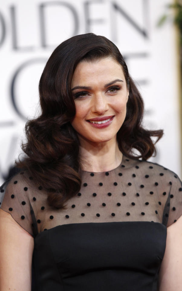 Actress Rachel Weisz arrives at the 70th annual Golden Globe Awards in Beverly Hills, California, January 13, 2013.  REUTERS/Mario Anzuoni (UNITED STATES  - Tags: ENTERTAINMENT) (GOLDENGLOBES-ARRIVALS)