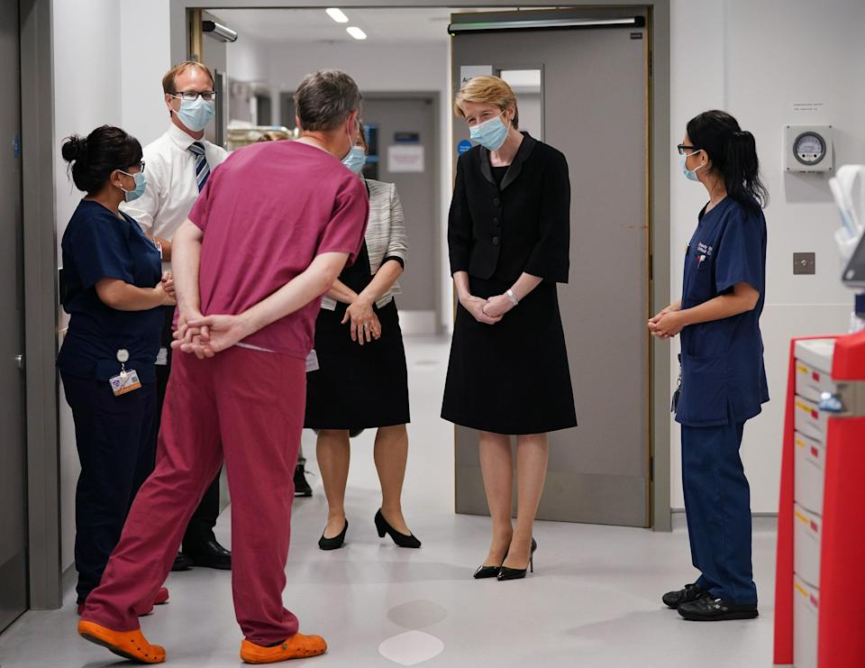 New NHS England boss Amanda Pritchard (in black) has written to staff about the challenges ahead (Yui Mok/PA) (PA Wire)