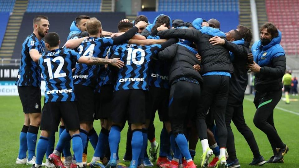 L'esultanza dei giocatori dell'Inter | Marco Luzzani/Getty Images