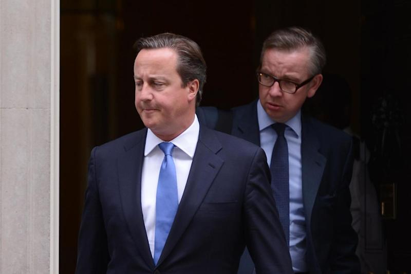 David Cameron and Michael Gove leave Downing Street in 2013 (PA Archive/PA Images)