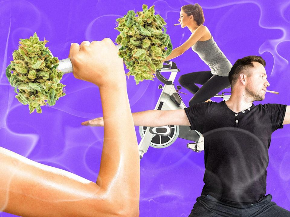 people working out while smoking weed cannabis 4x3
