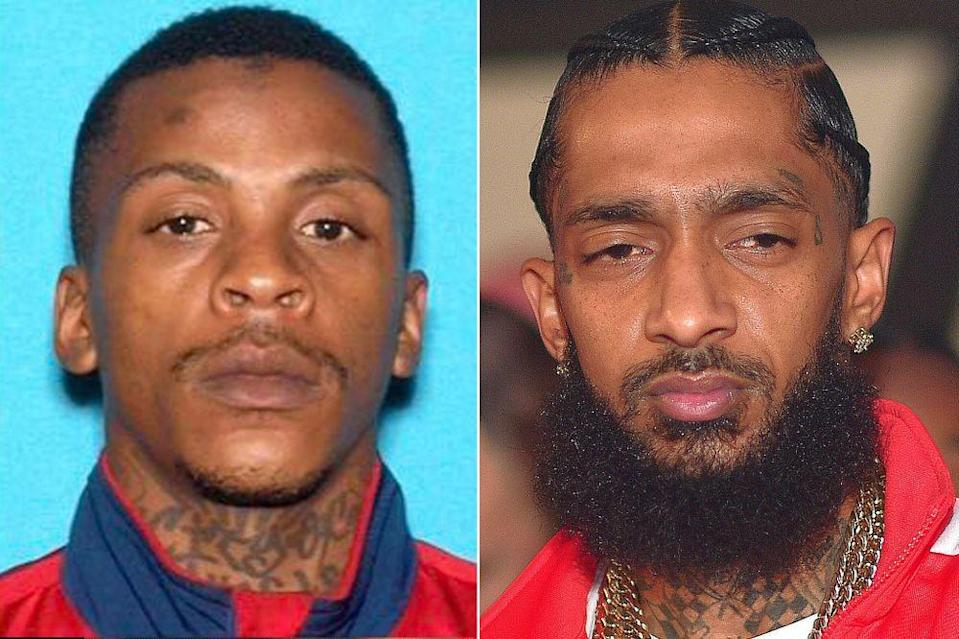 Eric Holder and Nipsey Hussle | LAPD; Prince Williams/WireImage