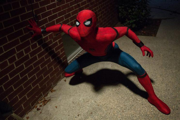 Spidey... Holland will do five films for Marvel in all - Credit: Sony