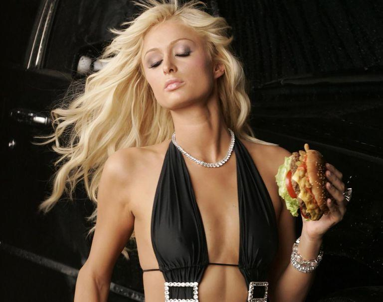 <p>Paris Hilton has been tapped twice for Carl's Jr campaigns, first in 2005 and then again in 2014. The most recent one shows the hotel heiress her wearing a bathing suit and saying 'that's hot' at the end. #PlotTwist.</p>