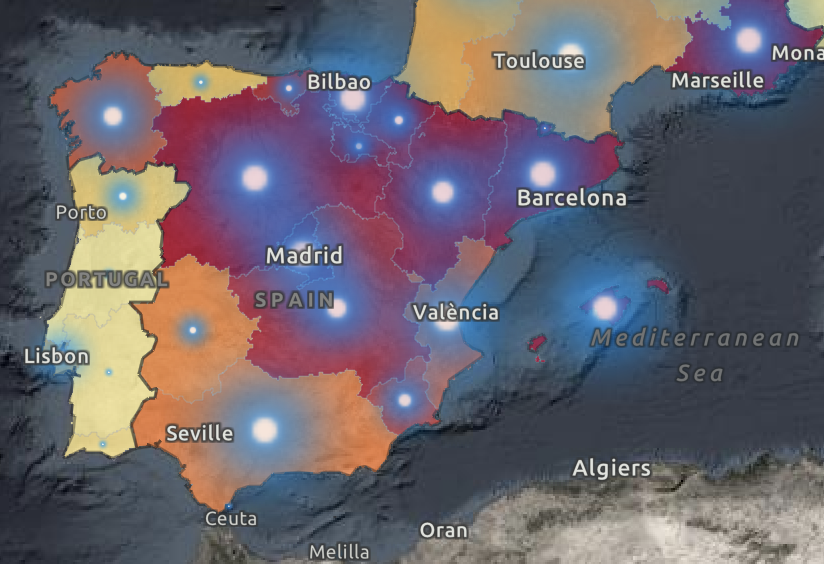 The map shows areas where cases of coronavirus are increasing (WHO)