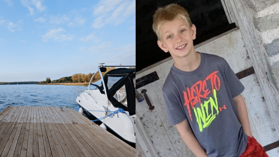 Andrew Free died in June 2020 from carbon monoxide poisoning after spending a day with his family on their boat. (Images via Getty Images/Facebook/CassandraFree).
