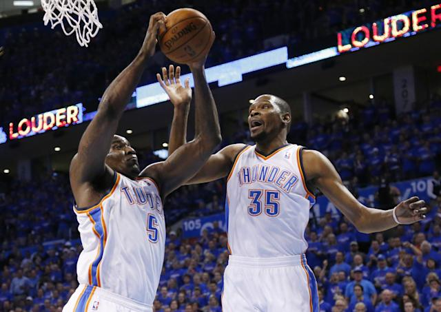 Report: Kendrick Perkins calls Kevin Durant a 'mother f-----' after Game 3 of NBA Finals