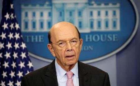 U.S. Commerce Secretary Wilbur Ross speaks in Washington
