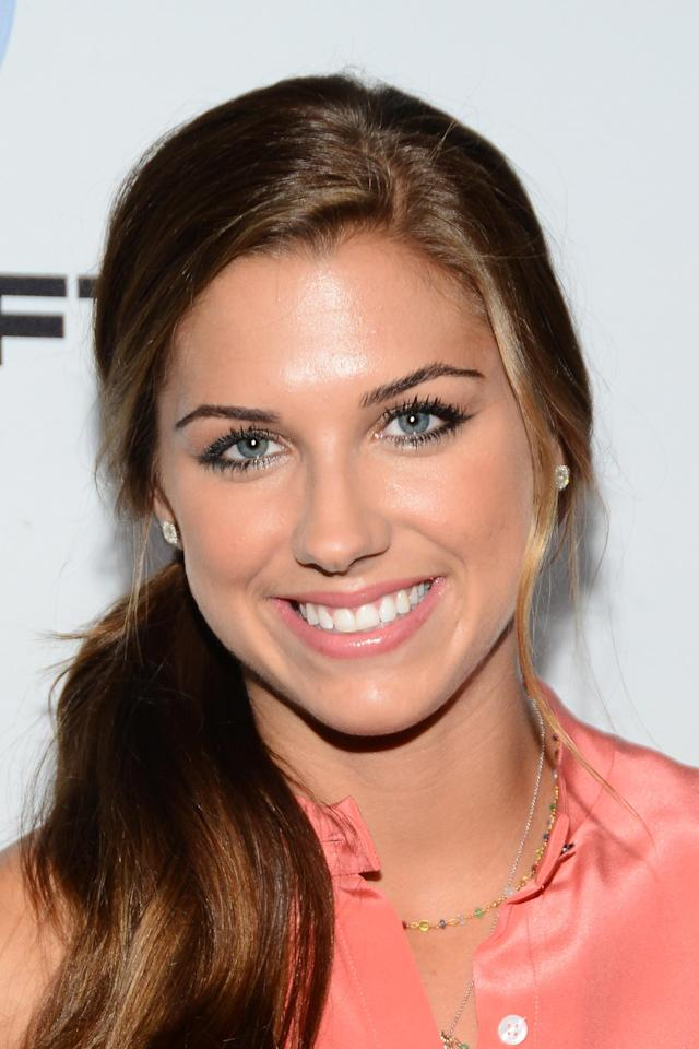 HOLLYWOOD, CA - OCTOBER 02: Alex Morgan attends The Launch Of Just Dance 4 presented by Ubisoft at Lexington Social House on October 2, 2012 in Hollywood, California. (Photo by Araya Diaz/Getty Images)