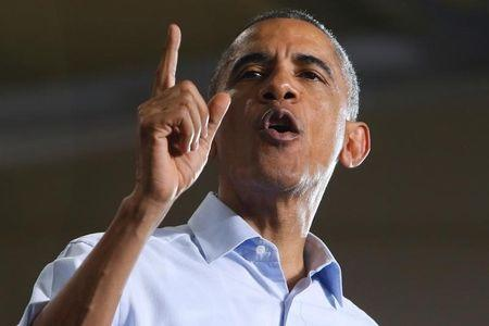 Obama campaigns for Democratic candidates at Wayne State University in Detroit, Michigan