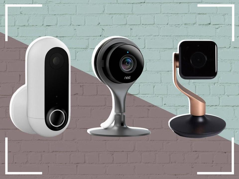 No need for walls peppered with holes – these cameras are suitable for rented homes, too (Getty/The Independent)