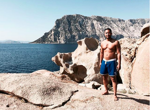"<p>The singer posted this shirtless (thank you!) photo of himself, while vacationing in Sardinia with wife Chrissy Teigen. (Photo: <a href=""https://www.instagram.com/p/BYbRMbUgXou/?taken-by=johnlegend"" rel=""nofollow noopener"" target=""_blank"" data-ylk=""slk:Instagram via John Legend)"" class=""link rapid-noclick-resp"">Instagram via John Legend)</a> </p>"