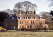 "<p>The 10-bedroom Georgian home was gifted to Prince William and Catherine Middleton by the Queen after their wedding. Located on the <a href=""https://www.sandringhamestate.co.uk/"" rel=""nofollow noopener"" target=""_blank"" data-ylk=""slk:Sandringham Estate"" class=""link rapid-noclick-resp"">Sandringham Estate</a>, the couple lived in the country home full-time until they moved to Kensington Palace.</p>"
