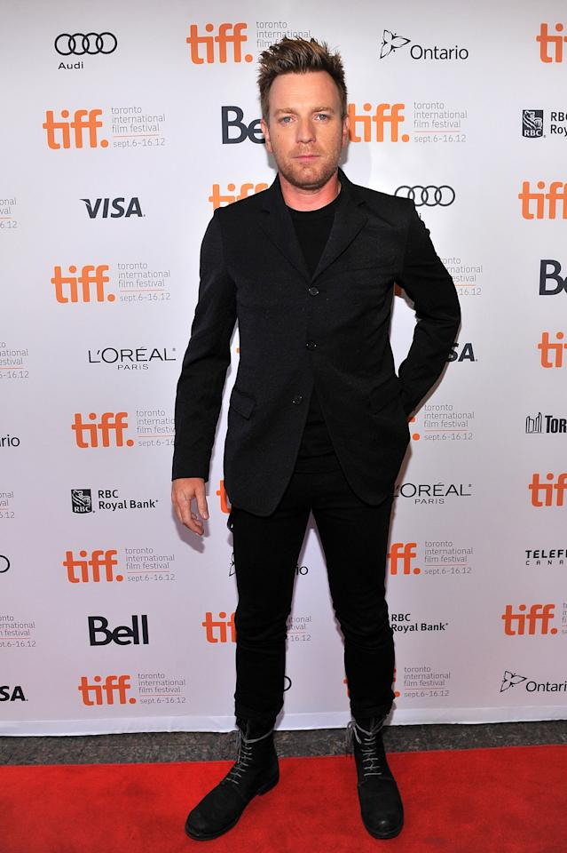 WORST: Ewan McGregor tries to make it easy on himself by going for an all-black ensemble, but we still can't give the OK to those boots.