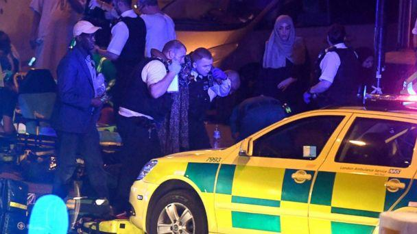 PHOTO: Police and ambulance crews respond to the scene of a traffic incident in Finsbury Park, London, June 18, 2017. (James Gourley/REX/Shutterstock)
