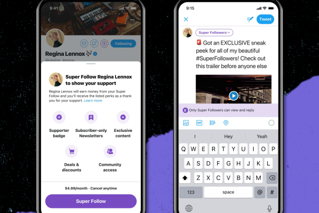 Twitter rolls out Super Follows feature which lets users subscribe to exclusive tweets from people they follow for up to .99 a month