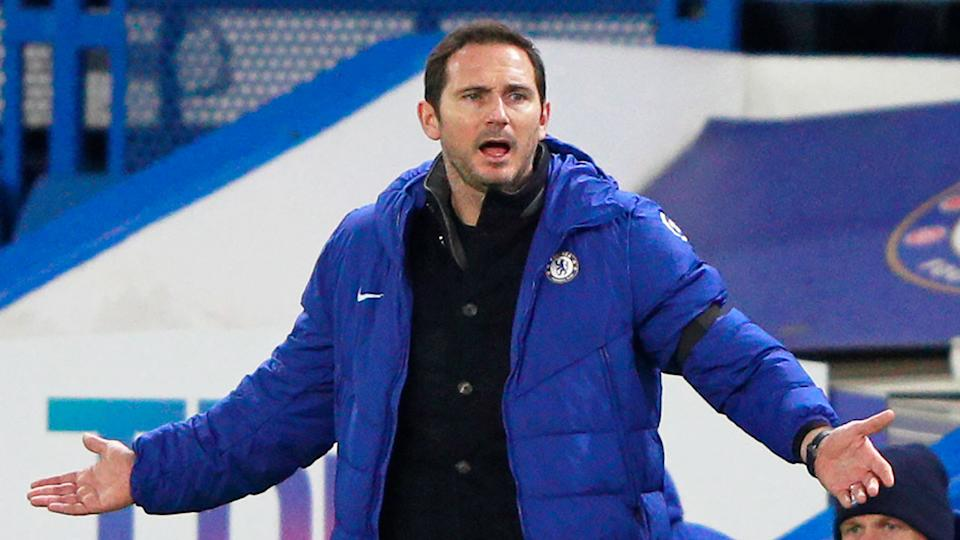 Pictured here, Frank Lampard remonstrates about a decision during a game.