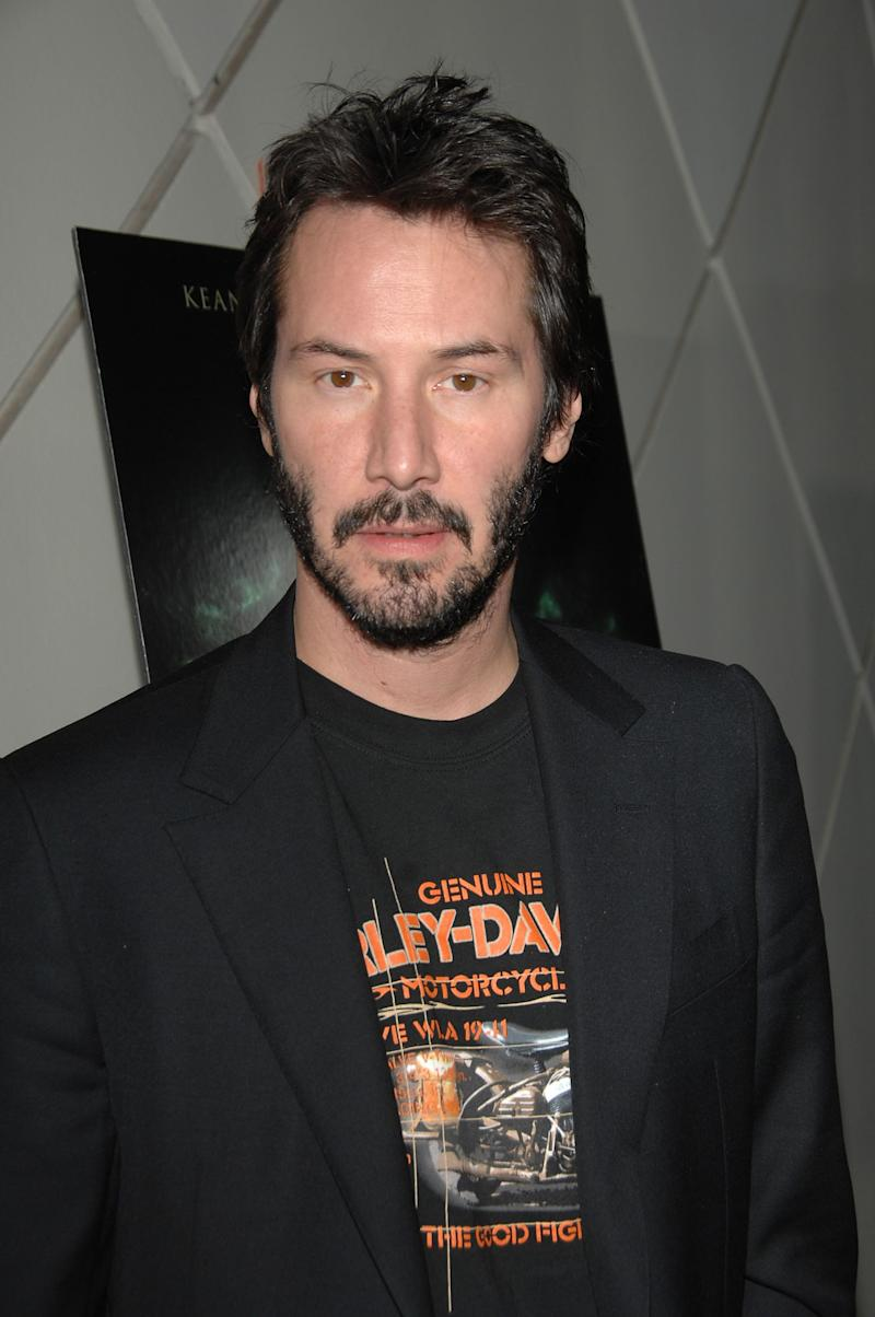 Keanu Reeves attends the Caltech screening of 'The Day The Earth Stood Still' at the California