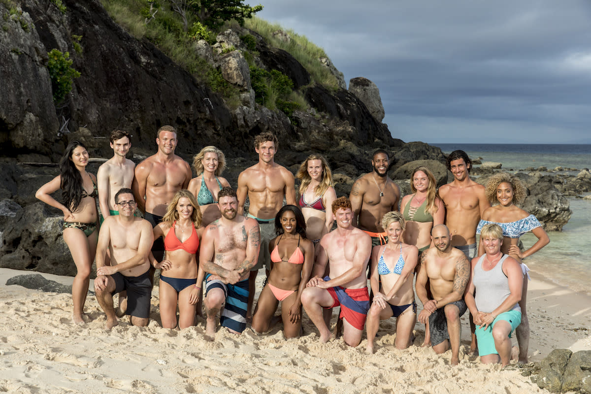 <p>The 18 castaways competing on <em>Survivor</em> this season. (Photo: Robert Voets/CBS) </p>