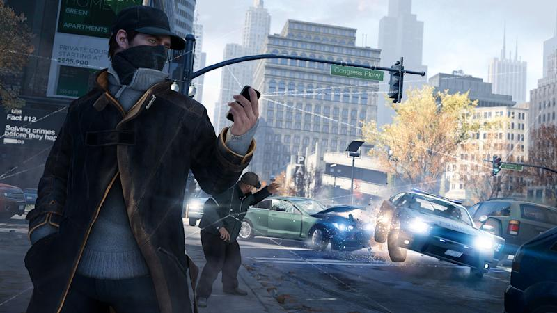 "This video game image released by Ubisoft shows a scene from ""Watch Dogs."" Ubisoft's ""Watch Dogs"" is about a super-hacker who can eavesdrop on phone conversations. It is among several games being hyped at the Electronic Entertainment Expo featuring ripped-from-the-headlines realness. (AP Photo/Ubisoft)"